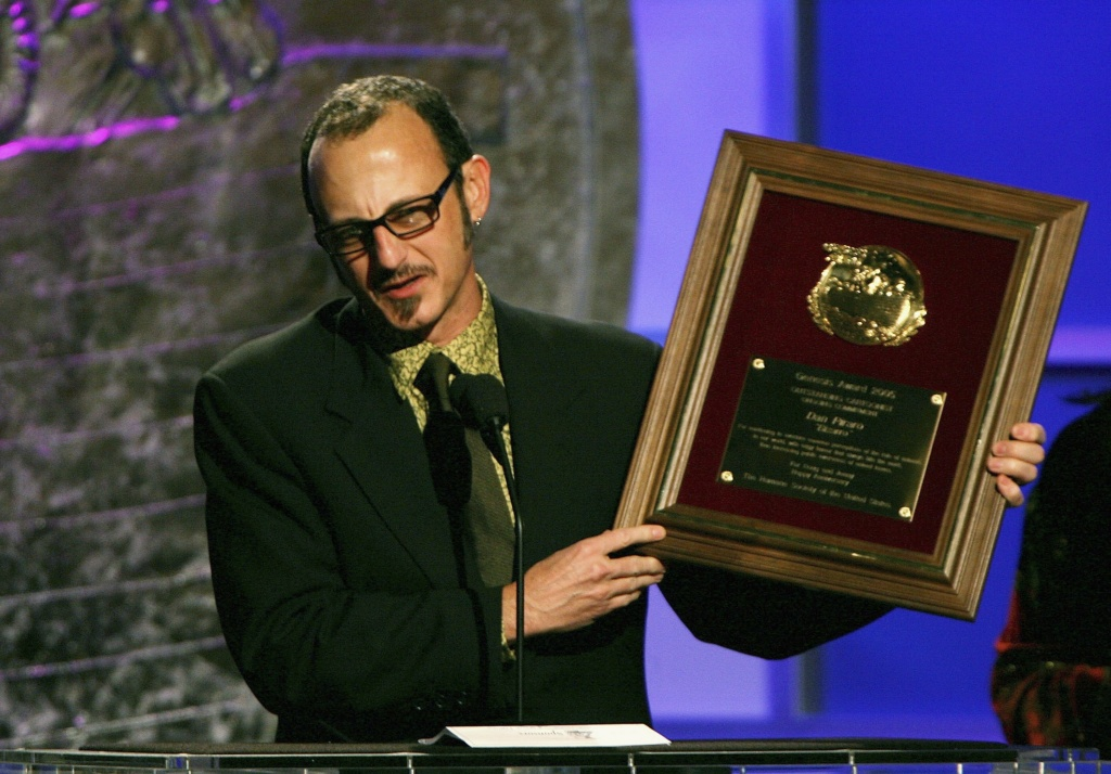 Cartoonist Dan Piraro accepts an award at the 20th Anniversary Genesis Awards Show at the Beverly Hilton Hotel on March 18, 2006 in Los Angeles, California.