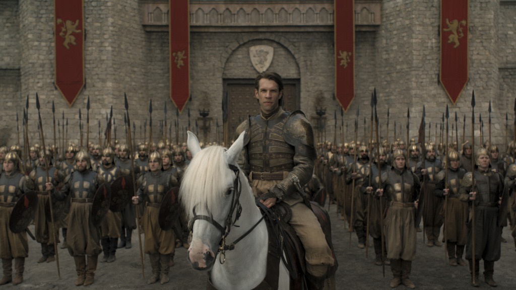 <em>Big spears/Horse ears/Gol-den Companyyyyy:</em> Harry Strickland (Marc Rissmann) — seriously, that's his name,<em> Harry Strickland</em> — leads an army of mercenaries in the penultimate episode of <em>Game of Thrones</em>.