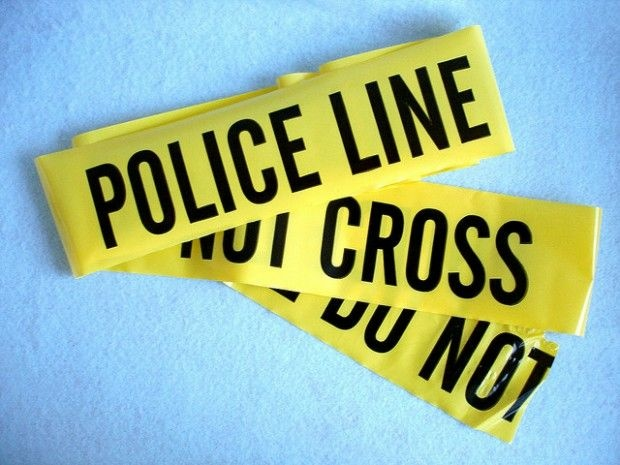 Police tape, May 2008