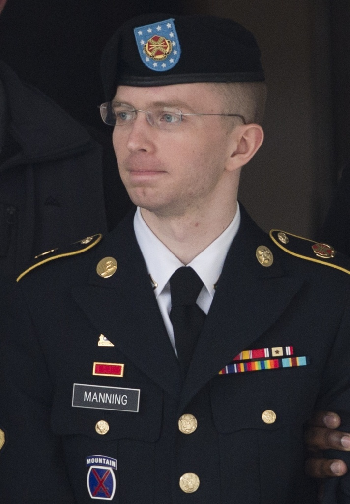US Army Private First Class Bradley Manning on Tuesday at Fort Meade, Md.