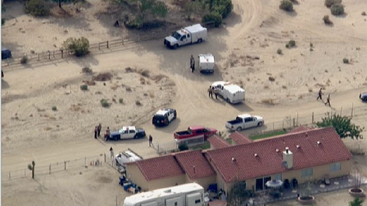 A home in Antelope Valley near where a woman was fatally mauled.