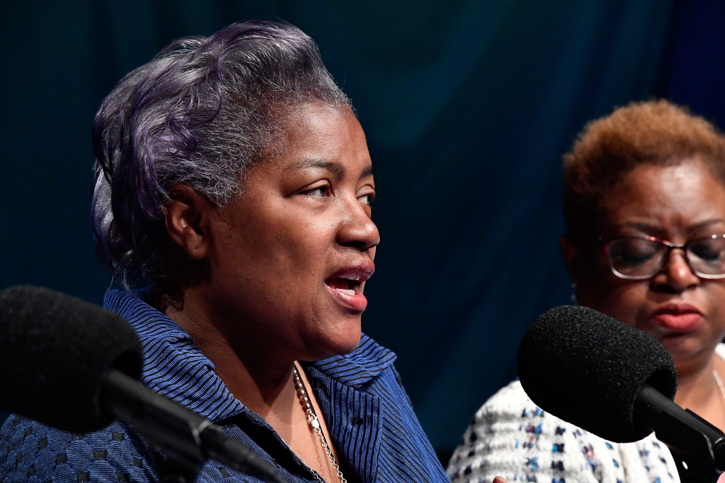 Donna Brazile speaks during SiriusXM's Progress Channel Presents: For Colored Girls Who Have Considered Politics, A Women's History Month Panel on March 28, 2017 in Washington, DC.