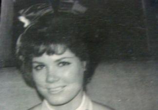 Nancy Downey Caddick as a Playboy Bunny in the 60s.