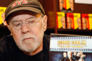 File photo of George Carlin promoting his new book 'All My Stuff' at Barnes and Noble December 11, 2007 in Los Angeles, California.