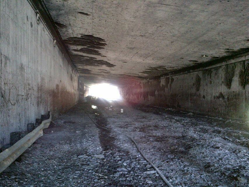 Truck collisions can cause infrastructure damage in the millions. The tunnel at the 5 and 2 freeway interchange was heavily damaged after a tanker caught fire Saturday, July 13, 2013. Rebuilding following the crash cost $16.5 million.