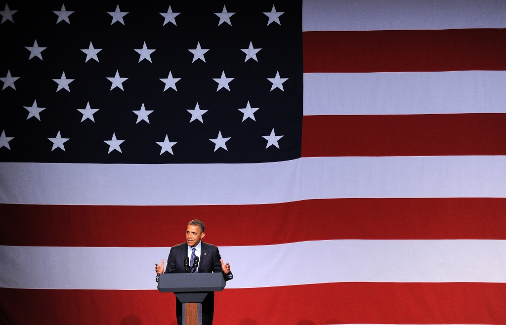 U.S. President Barack Obama speaks during a campaign event at the Beverly Wilshire Hotel in Beverly Hills, California, on June 6, 2012.