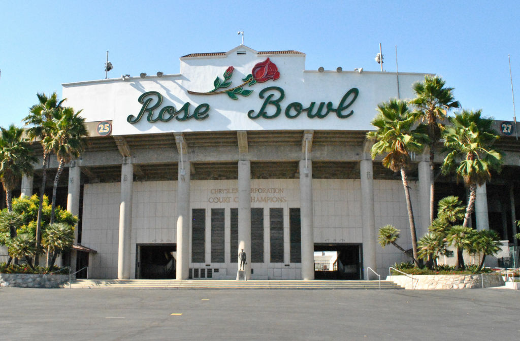 The Rose Bowl will host the UCLA - Houston game Saturday night.