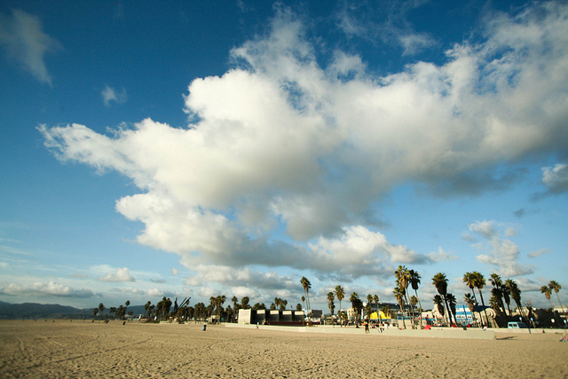 A photo of Venice Beach during a Southern California winter.