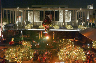 Atmosphere at the Dorothy Chandler Pavilion after a performance by the Los Angeles Opera.