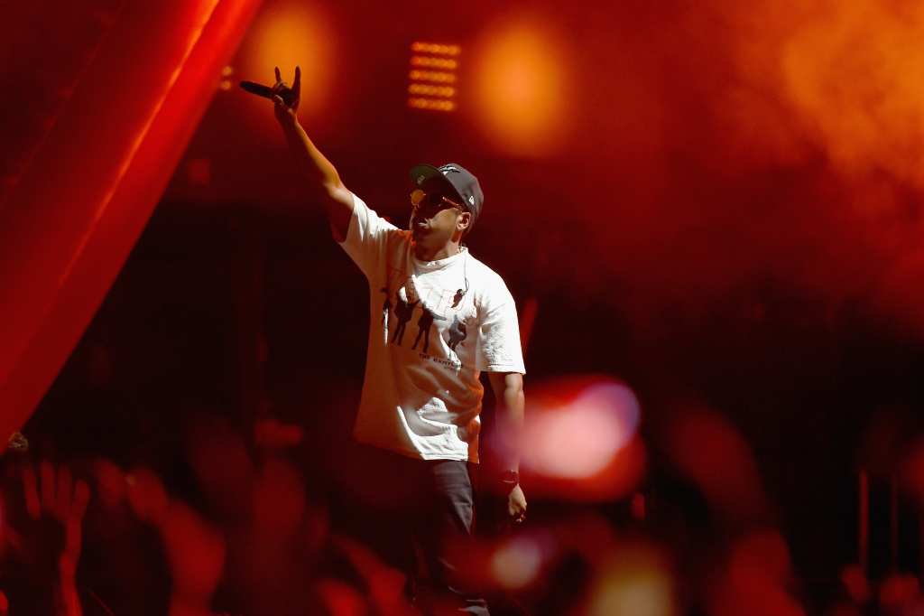 Jay-Z performs onstage during the Meadows Music And Arts Festival - Day 1 at Citi Field on September 15, 2017 in New York City. Jay-Z leads the 2018 Grammy Award nominations.