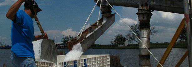 Machines at Huey Ice Company have slowed due to less demand for ice.