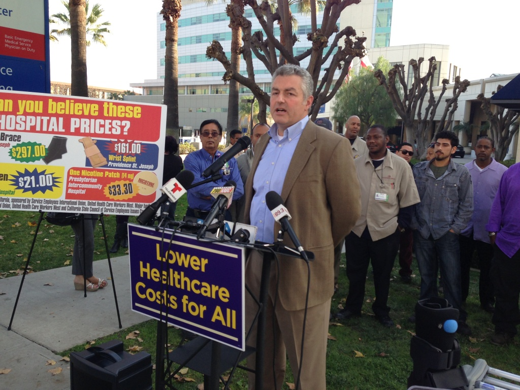 in January Dave Regan, president of SEIU-United Healthcare Workers West, announced the launch of two ballot initatives to cap hospital pricing and executive salaries. The union canceled those efforts when it made a deal with the California Hospital Association in May.