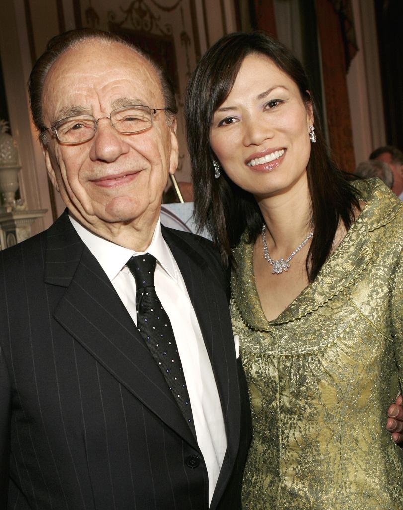 Rupert Murdoch and his wife, Wendy Deng Murdoch.
