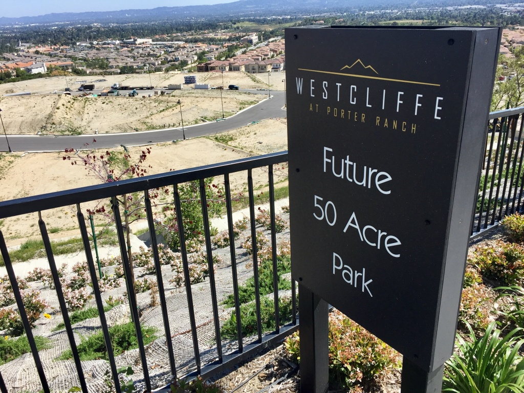 The strength of the market seems to have even surprised Toll Brothers executives, who plan to build another 1400 homes in their development overlooking the San Fernando Valley over the coming years.