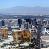 Aerial view of the Las Vegas boulevard,