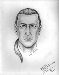 Police released a composite sketch of a man they believe shot at a school officer near El Camino High School in Woodland Hills on Wednesday, Jan. 19, 2011. He is in his mid- to late-40s, 5-foot-9 to 5- foot-10 with long grayish hair pulled into a ponytail. He was last seen wearing blue jeans with a dark-colored bomber jacket or sweatshirt, and he was carrying a handgun described as 9mm semiautomatic, according to Los Angeles police.