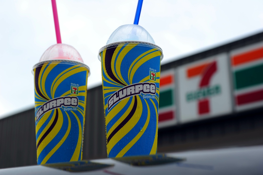 An illustration of Two, 7-Eleven Slurpees on October 27, 2010 in Washington, DC.