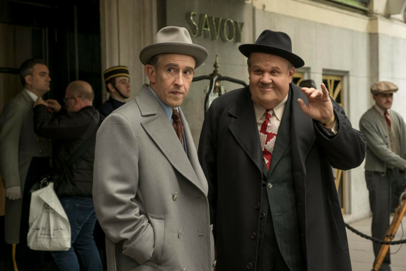 "John C. Reilly (right) as Oliver Hardy, with Steve Coogan as Stan Laurel in the new movie ""Stan & Ollie."" (Photo by Nick Wall, Courtesy of Sony Pictures Classics)"