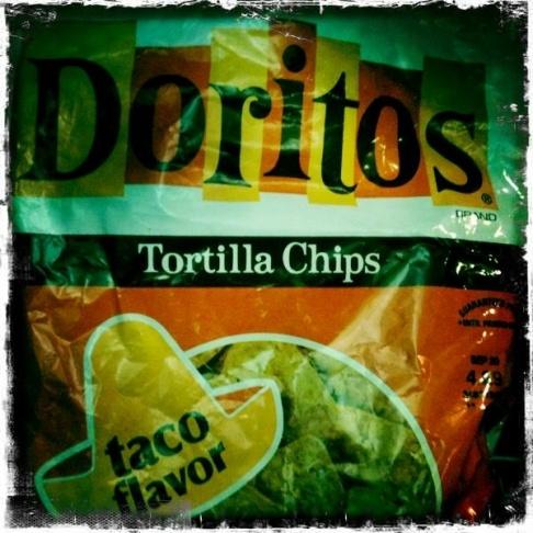 Doritos then (okay, sort of - a Hipstamaticized bag of resurrected Original Taco in vintage packaging)