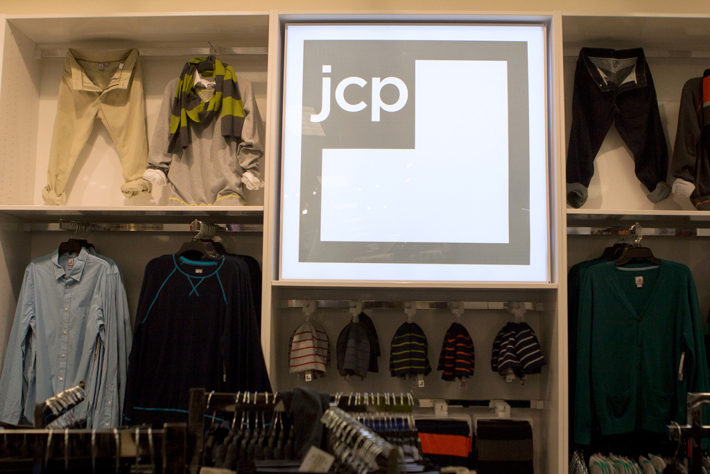 Merchandise on display at JC Penney in Culver City.
