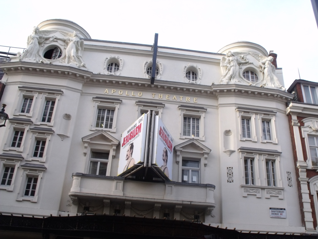 The Apollo Theatre in central London was damaged in a partial collapse on Dec. 19, 2013, injuring an unknown number of theater-goers.