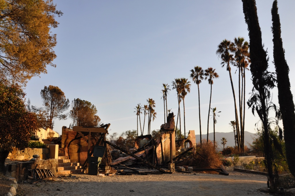 A home destroyed in the Thomas Fire.