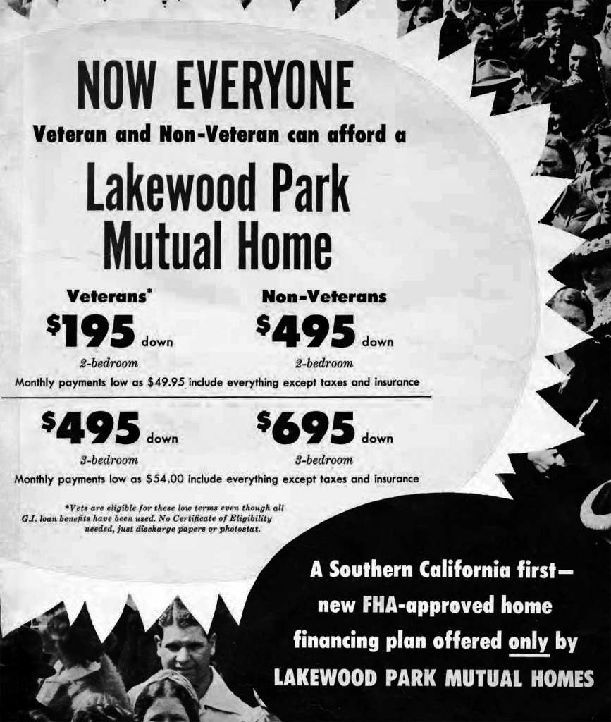 1952 Lakewood's development never stopped, although the start of the Korean War slowed the financing of new construction.