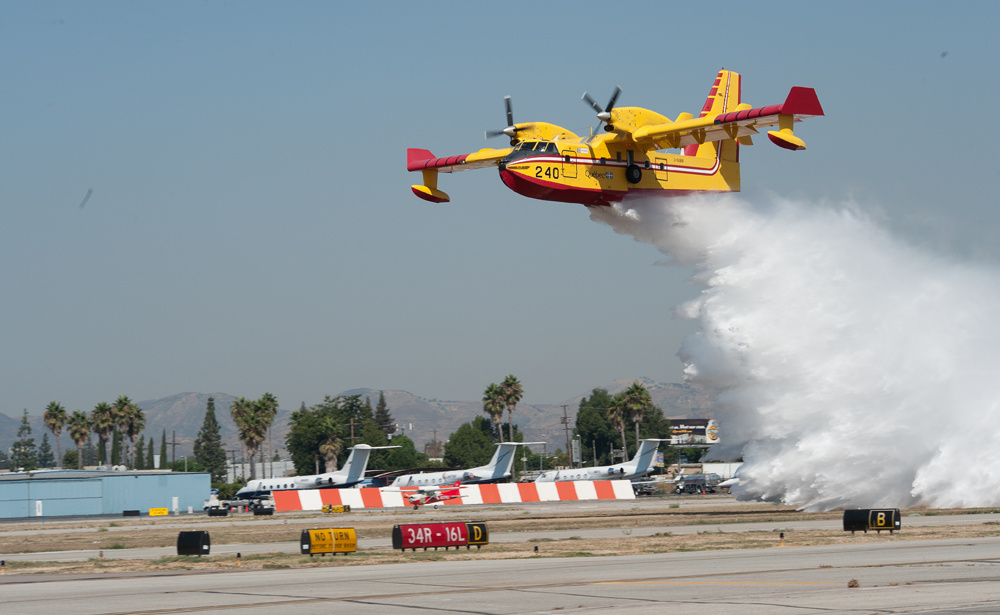Two Super Scooper airplanes, Bombardier CL-415, are on lease to Los Angeles County Fire Department through November 2012.