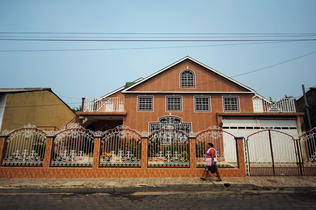 The present residence of a returned emigrant in the town of Intipuca, 180 Km east of San Salvador, on April 23, 2013. U.S. President Barack Obama plans to visit Costa Rica to meet with Central American presidents to inform them about the U.S. immigration reform.