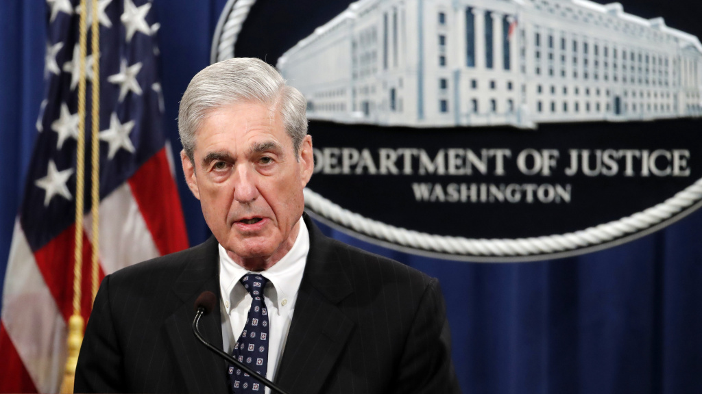 Special counsel Robert Mueller speaks at the Department of Justice on May 29 about the results of his Russia investigation.