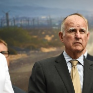 California Gov. Jerry Brown attends the  Drive The Dream 2015, an event aimed at accelerating the continued adoption of plug-in electric vehicles in California.