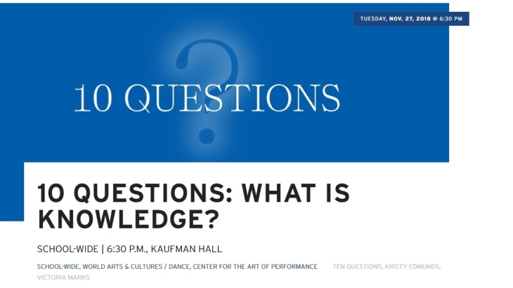 UCLA School of the Arts and Architecture - 10 Questions: What is Knowledge?