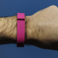"The ""Flex"", an ""electronic coach"", device by Fitbit is presented at the Mobile World Congress in Barcelona, on February 24, 2014."