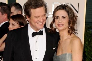 Actor Colin Firth and wife Livia Giuggioli arrive at the 68th Annual Golden Globe Awards on Jan. 16, 2011 in Beverly Hills. Firth was nominated in the best dramatic actor category for his work in 'The King's Speech.'