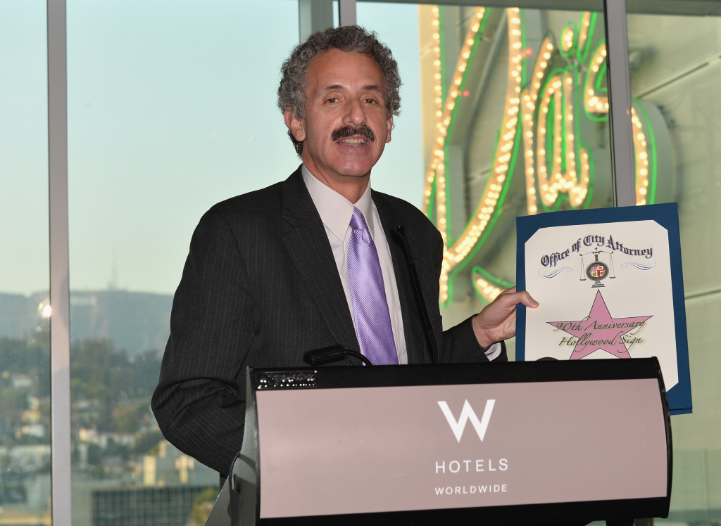 Los Angeles City Attorney Mike Feuer attends The Hollywood Chamber of Commerce & The Hollywood Sign Trust's 90th Celebration of the Hollywood Sign at Drai's Hollywood on September 19, 2013 in Hollywood, California.