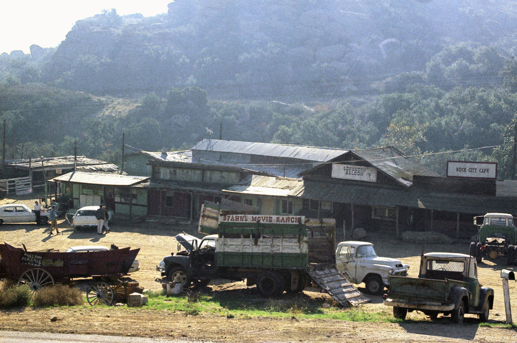 The Spahn movie ranch near Chatsworth, a Los Angeles suburb, in 1969, where Charles Manson and his