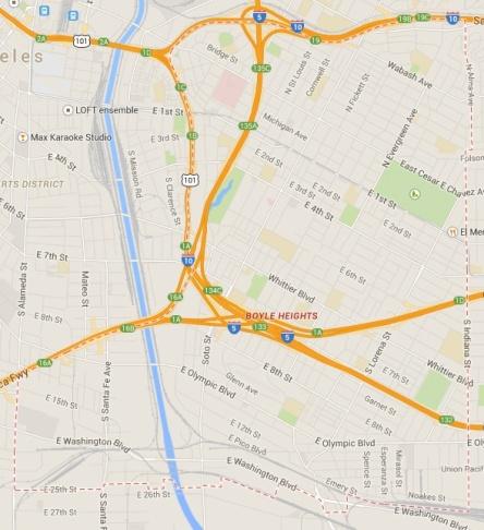 Boyle Heights Google Map
