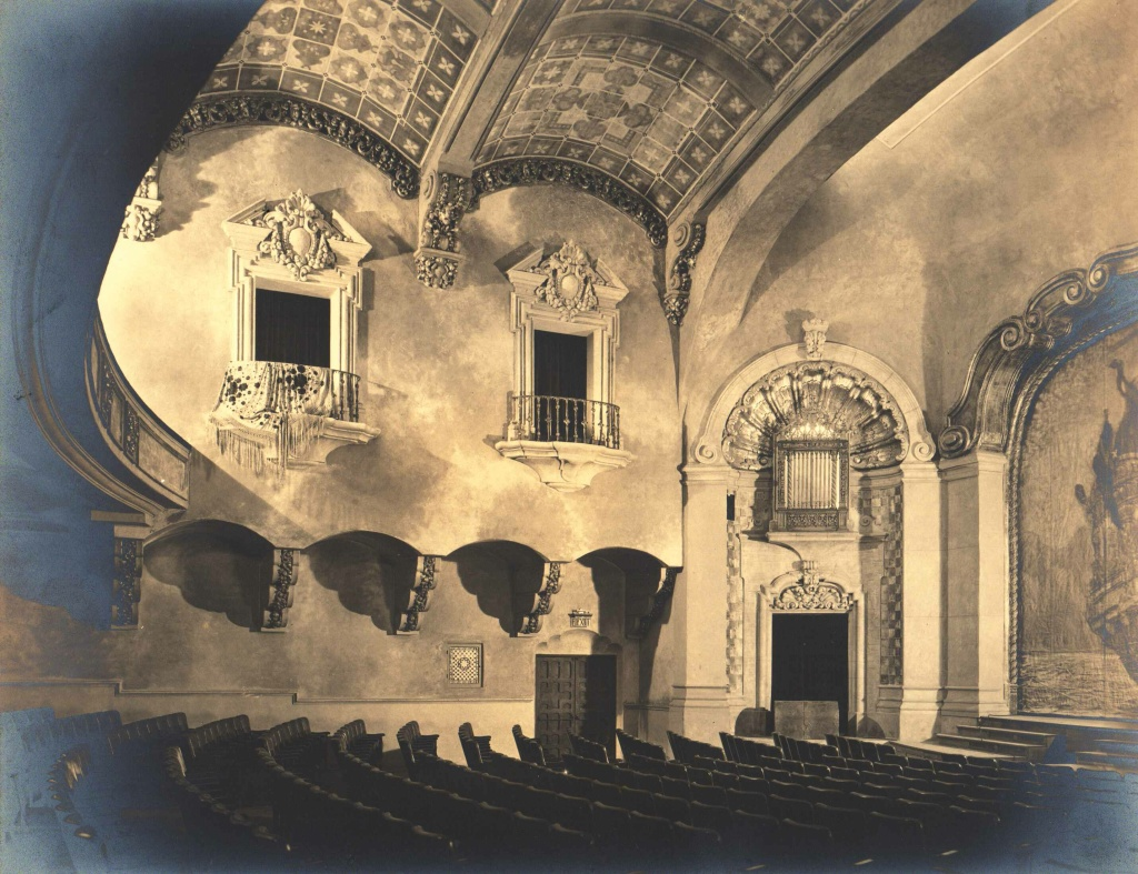 A vintage image of the Pasadena Playhouse which opened in 1925.