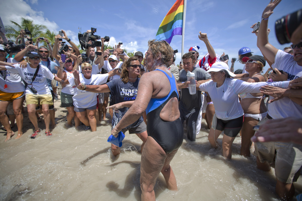 Diana Nyad completed a 110-mile swim and is now facing skeptics who question whether she completed the feat in the manner she said. She addressed these critics in a three-hour conference call on Tuesday night.