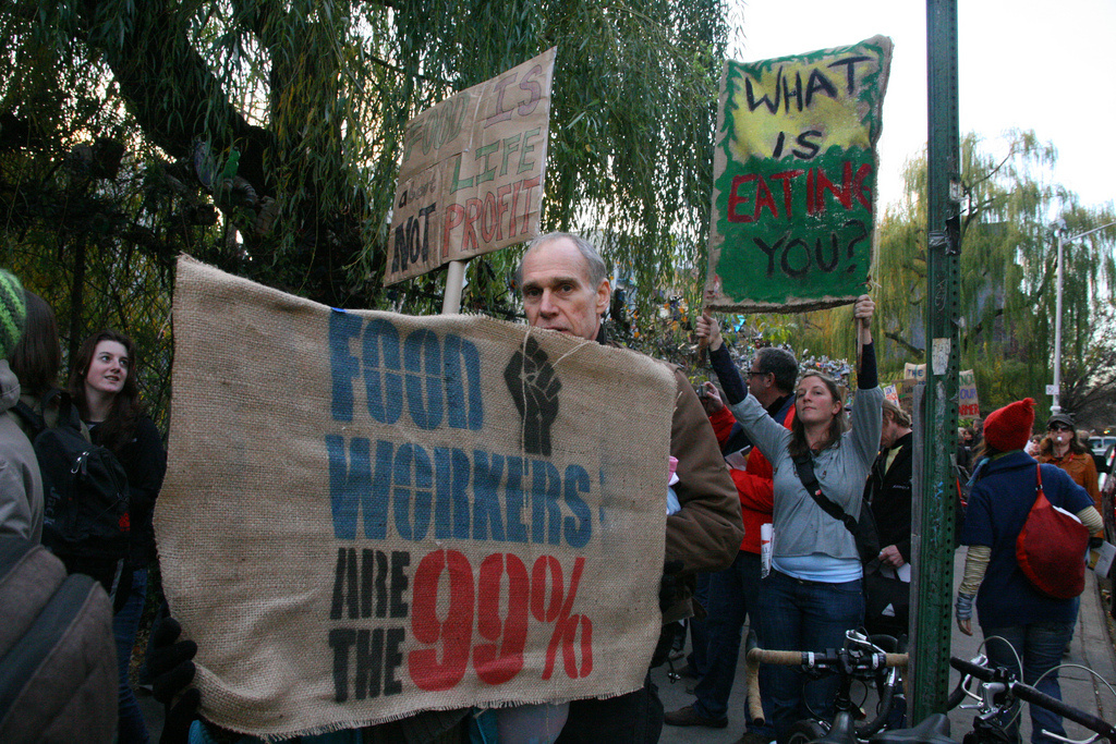 Occupy Wall Street Farmers' March, from La Plaza Cultural and through El Jardin Del Paraiso in the East Village, to Liberty Plaza, where a seed trade took place on December 4, 2011.