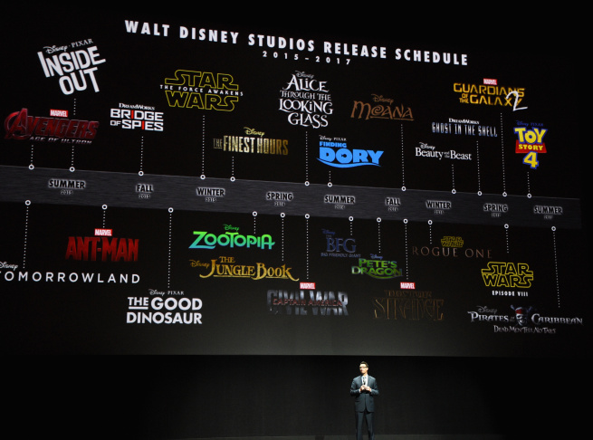 Walt Disney Studios EVP of Theatrical Distribution Dave Hollis speaks onstage during The Walt Disney Studios