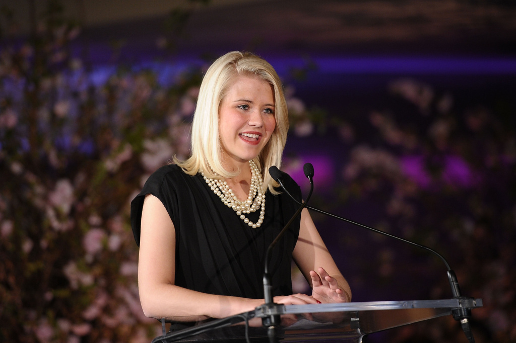Honoree Elizabeth Smart addresses the audience during the 2nd Annual Diller-von Furstenberg Awards at United Nations on March 11, 2011 in New York City.
