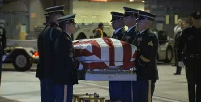 The remains of Army Pfc. Roosevelt Clark arrived at Los Angeles International Airport on Wednesday.
