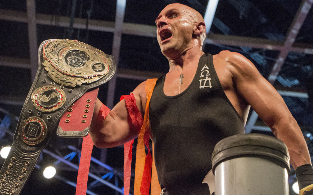 Christopher Daniels after winning the Ring Of Honor world championship on March 10, 2017.