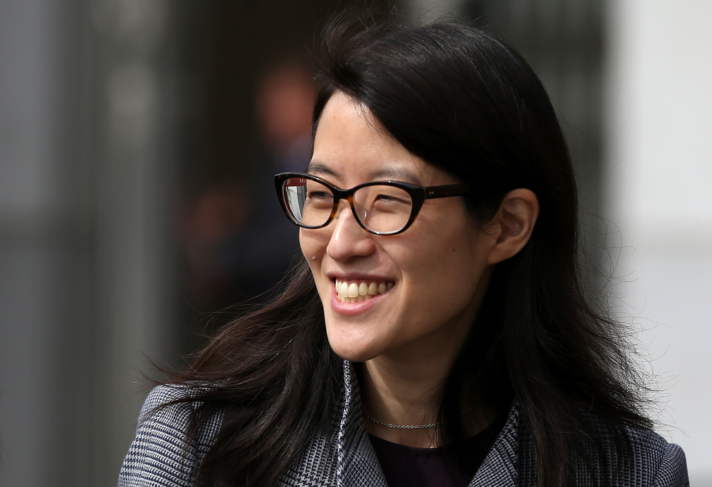 Ellen Pao leaves the California Superior Court Civic Center Courthouse during a lunch break from her trial on March 10, 2015 in San Francisco, California. Reddit interim CEO Ellen Pao is suing her former employer, Silicon Valley venture capital firm Kleiner Perkins Caulfield and Byers, for $16 million alleging she was sexually harassed by male officials.