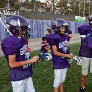 The Glendale Pop Warner team. Their coach, Dave Marks, is one of many that taught the Heads Up Football program to these players.