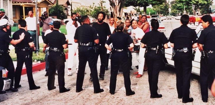 The intersection of Florence and Normandie avenues became a flash point in the early hours of the riots in 1992.