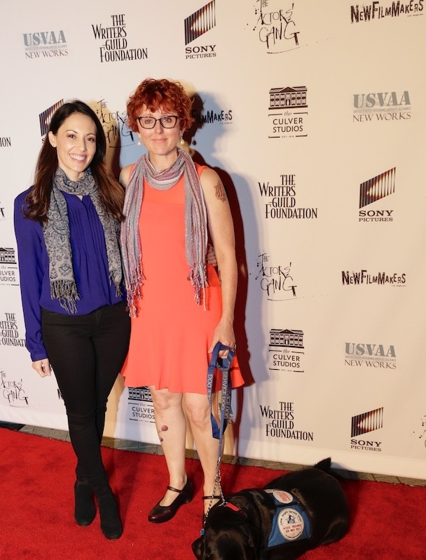 Stephanie Maura Sanchez (left) and Sylvia Bowersox (right) at the US  Veterans' Artists Alliance's New Works Presentation.