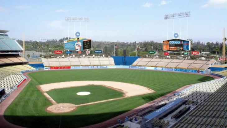 A rendering of planned Dodger Stadium improvements