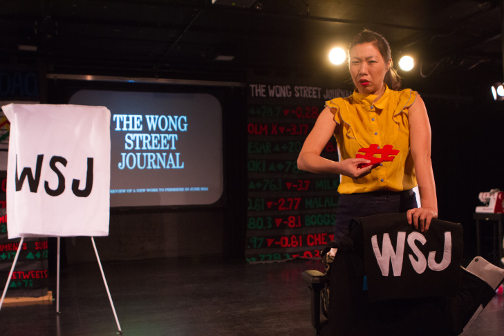 Kristina Wong performs her show